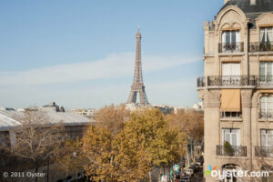 The view from Superior Room #45 at the Hotel Duquesne Eiffel; Paris, France