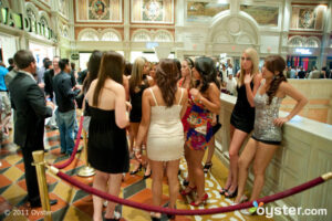 The line for TAO at the Venetian Resort Hotel Casino; Las Vegas, NV