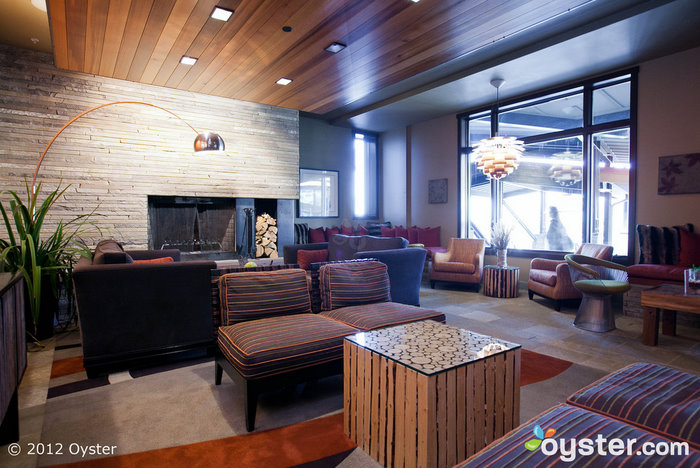 The lobby at the Hotel Terra Jackson Hole; Jackson Hole, WY
