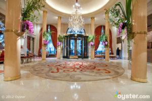 Lobby at the Hotel Plaza Athenee; Paris, France