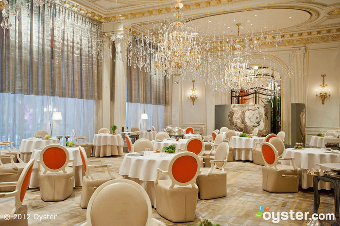 Restaurant Plaza Athenee at the Hotel Plaza Athenee; Paris, France