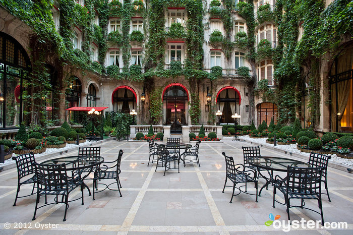 Courtyard at the Hotel Plaza Athenee; Paris, France