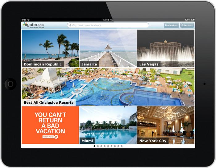 La nostra schermata iniziale dell'app per iPad.