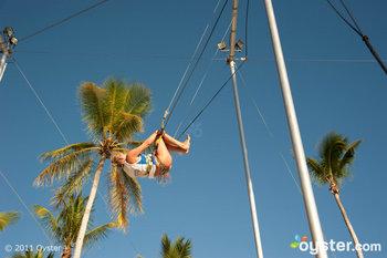Trapeze at Viva Dominicus Palace Resort; Dominican Republic