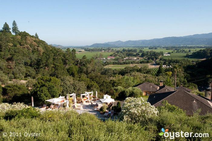 Vista do Auberge Du Soleil; Napa Valley, CA