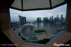 The view from the Ritz-Carlton, Millenia Singapore
