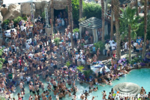 Throngs of young people hit the Hard Rock Hotel's Sunday Rehab Pool Party each week in Las Vegas.