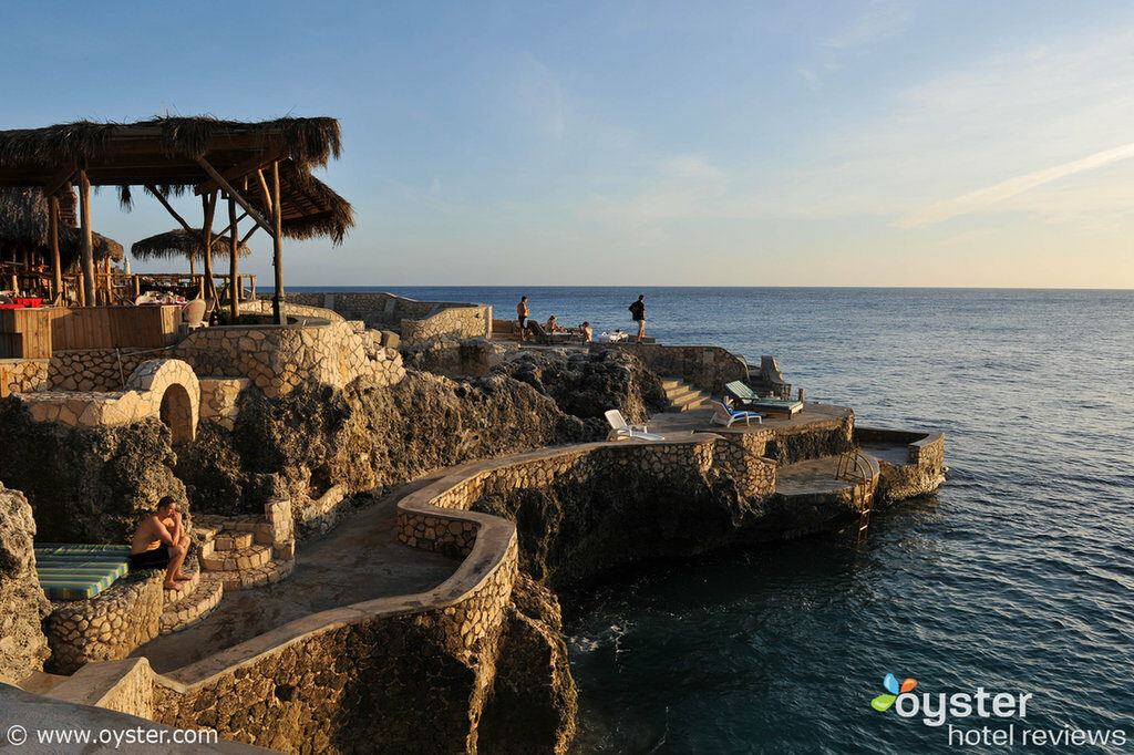 The cliffs at Catcha Falling Star in Negril, Jamaica