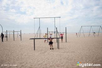 Fitness Equipment at the Beach at the Loews Santa Monica