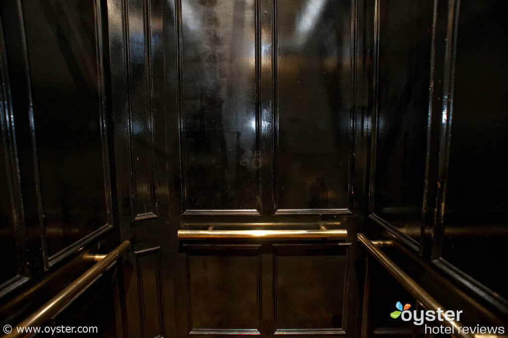 Potentially-haunted elevator at the Algonquin, NYC