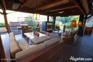 A private outdoor living room at Calistoga Ranch.