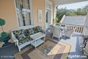 Porch in the Chrysanthemum Room at The Jasmine House Inn -- Charleston