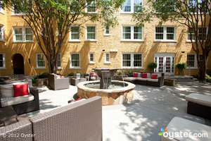 How cozy is the Artmore's courtyard?