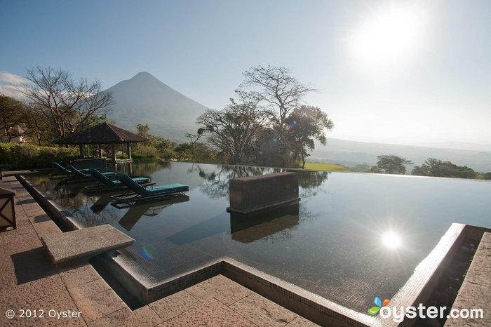 Volcanic vistas: View from the infinity pool at La Reunion Golf Resort & Residences -- Guatemala