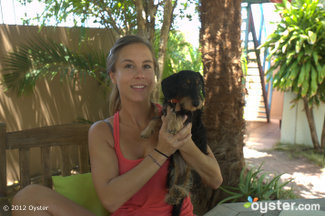 Owner Stephanie Rooijakkers with her pooch Lola.