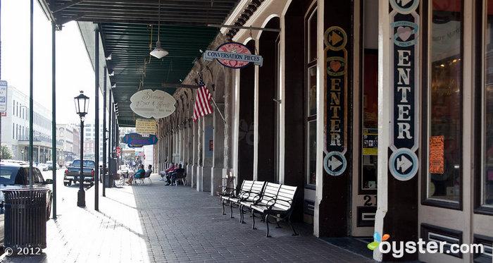 Der historische Strand District ist der bekannteste Stadtstreifen von ganz Galveston.