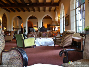 The seldom-seen lobby of the Chateau Marmont