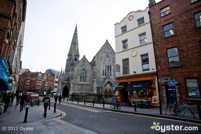 The Temple Bar area in Dublin is the perfect spot for a pint