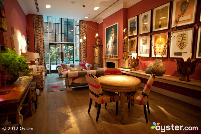 The Crosby Street Hotel's high-design drawing room takes a cue from its fashionable SoHo neighborhood.