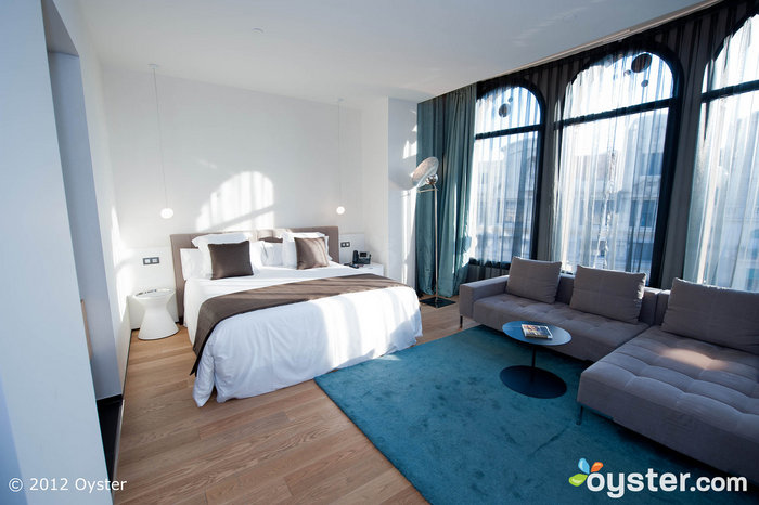 The hotel is housed in a beautiful neo-classical building with modern interior design.