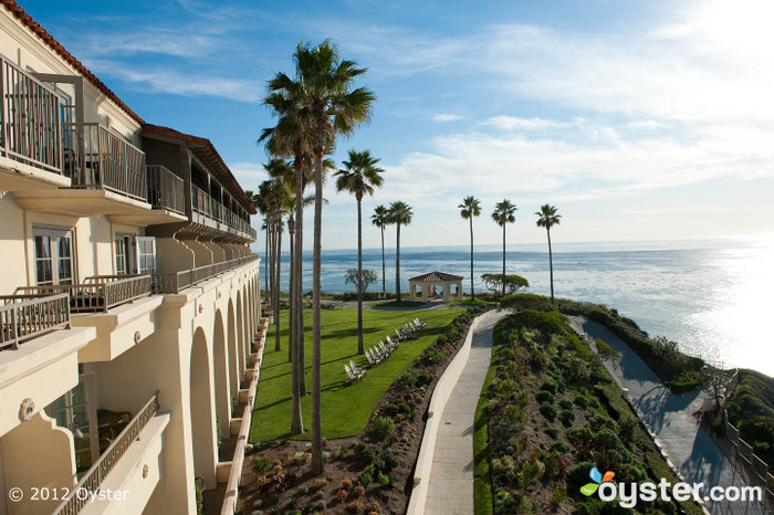The hotel is right on the beach and offers great views of the Pacific Ocean.