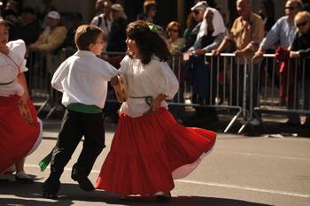Manhattans Columbus Day Parade tanzt sich die 5th Avenue hinunter. Bildnachweis: Asterix611 / Flickr