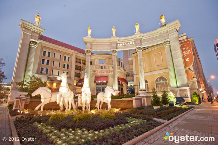 L'entrée emblématique du Caesars Palace
