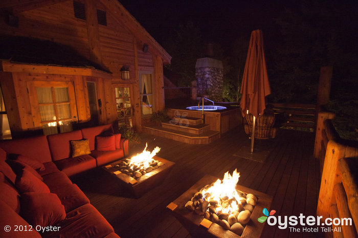 Cuddle up in front of the fire at the Rusty Parrot, or take a late night dip in the whirlpool.