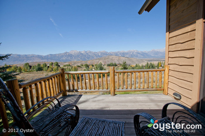 The Cottonwoods Villa at Spring Creek Ranch offers inspiring views of the Tetons.