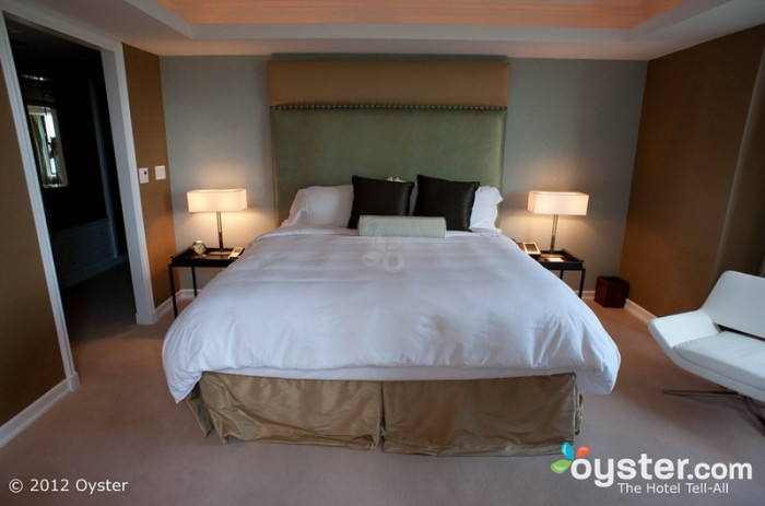 The Essex House Presidential Suite is conservatively luxurious