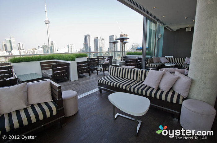 The Rooftop Lounge is one of the nightlife hot spots in the Art and Design District.