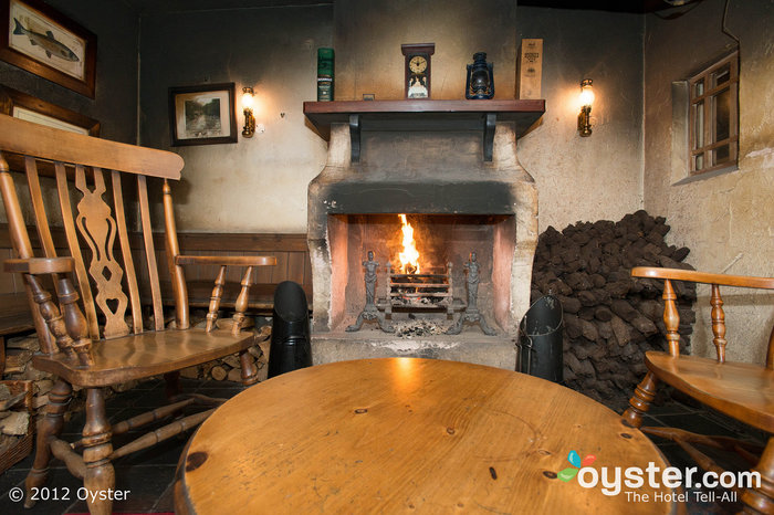 The Bushmills Inn in Antrim keeps peat fires roaring in colder months.