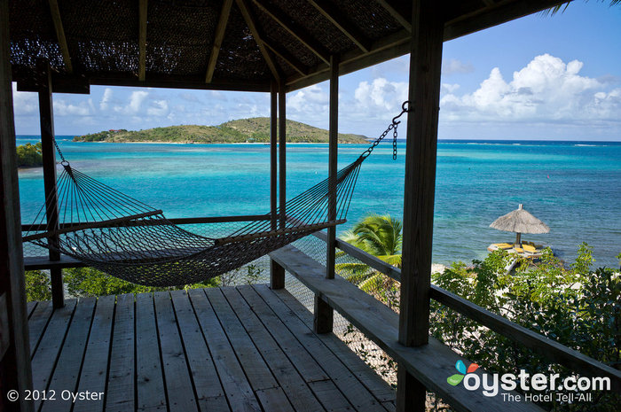 Ahhhh. Numerous cottages have hammocks for lounging.