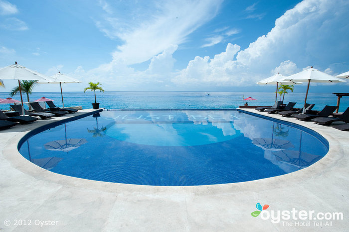 The view from Hotel B's infinity pool is hard to beat.