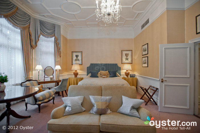 Rooms are welcoming and elegant, with rich fabrics and classic decor.