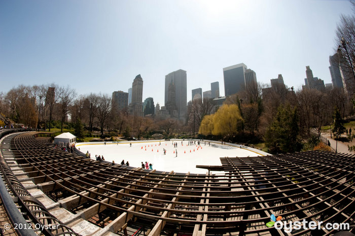 It may be unseasonably warm, but that makes it the perfect weather for outdoor ice-skating at Wollman Rink.