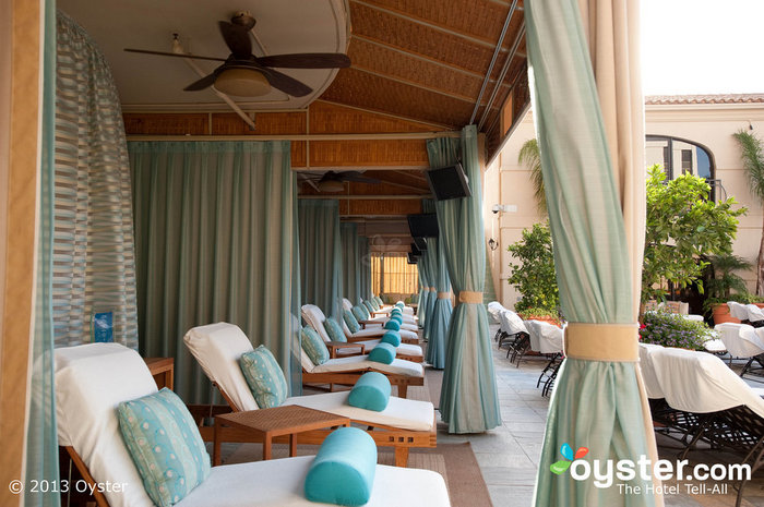 The poolside cabanas at the Beverly Wilshire Hotel are well worth the campaign donation.