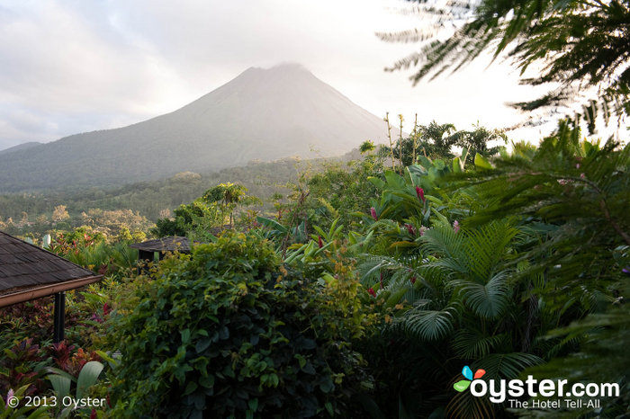 The Arenal Volcano is one of the top attractions in Costa Rica, and it is still possible to see some fumaroles activity.