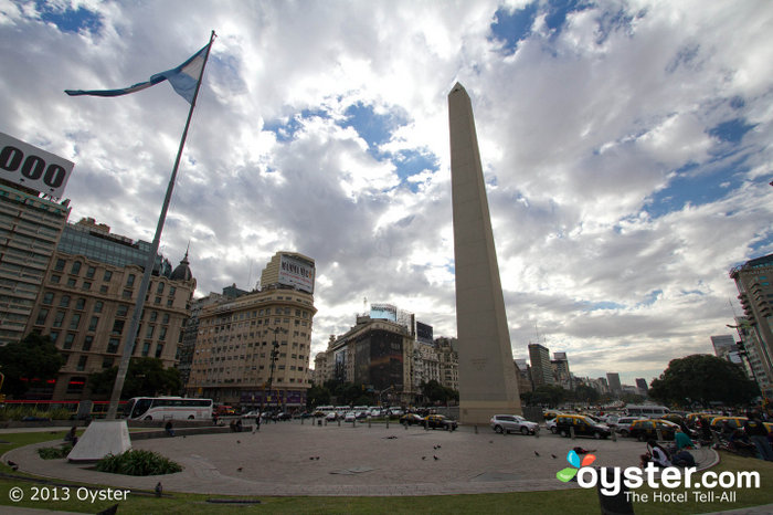 The Obelisk is one of the city's most famous landmarks.