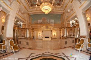 Lobby of St. Regis New York, a luxury hotel offering a third night free through NYC & Company