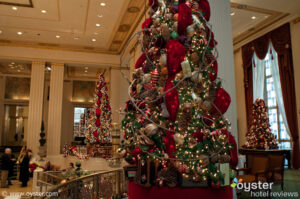 Christmas decorations at The Waldorf Astoria