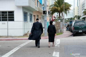 Hasidim in Mid-Beach