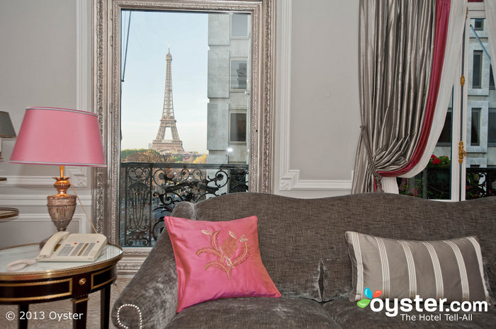 This Eiffel Tower view is the perfect backdrop to a romantic night in.