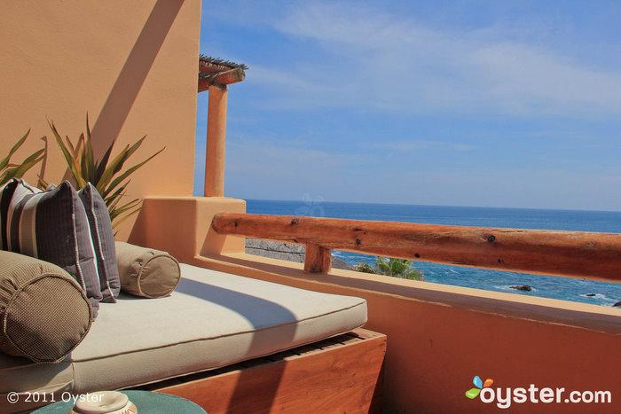 Balkon mit Blick auf die Palapa Spa Suite mit 1 Schlafzimmer und Meerblick