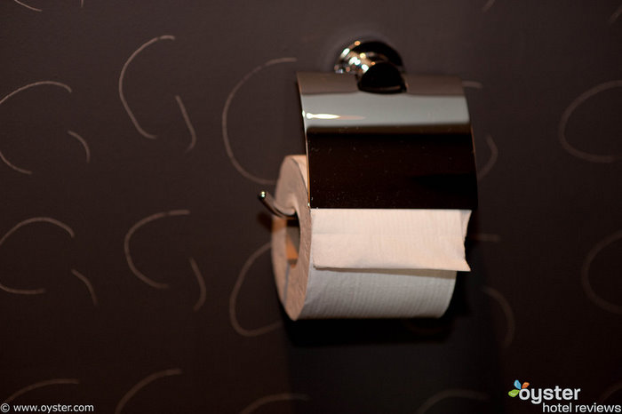 The toilet paper at the Setai sports a modern yet discreet metal hood, adding shine to an otherwise quotidian experience.