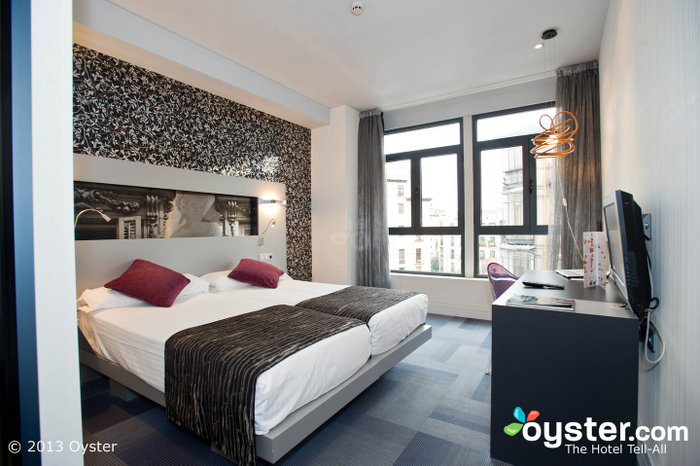 The hotel offers contemporary rooms with solid amenities and big, stylish bathrooms.