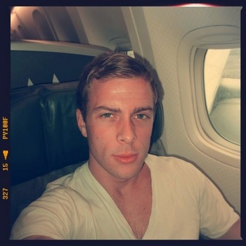 Bryce on a plane headed to the Philippines #selfie