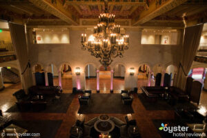 Lobby at Hollywood Roosevelt Hotel, a great place to stay before the Rose Bowl