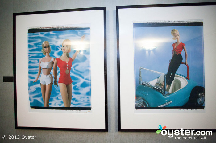 This hip Texas hotel features funky artwork, such as these Barbie Polaroids by David Levinthal.
