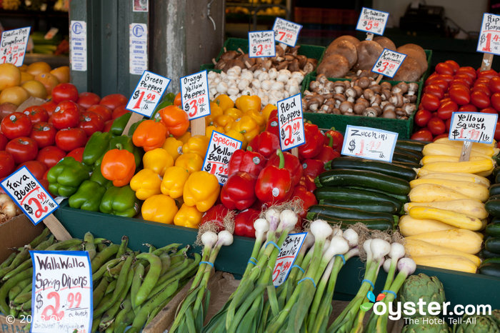 Vegetable stand at Pike Place Market